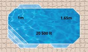 Plaza Martini Pool Shape