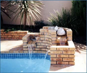 Brick water feature