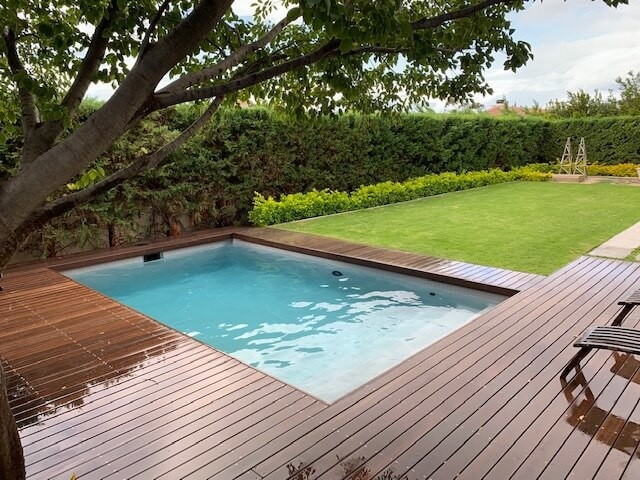 Neptune Cape Grey with decking.